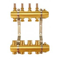 TRPHO-R- 4 Rozdzielacz do ogrzewania podłogowego z zaworami termost. i przepływomierzami