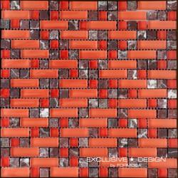 Mozaika szklano-kamienna A-MMX08-XX-013 30x30 cm