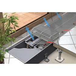 Katherm HK 132/340/2750 3861W/1041W Klimakonwektor podłogowy CZTERORUROWY KaControl KAMPMANN