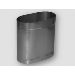 Rura kwasoodporna prosta owalna 100/200 L 250