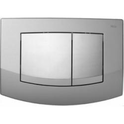 TECEambia - przyciski spłukujące do WC, podwójne, ramka chrom matowy, przyciski chrom połysk TECE