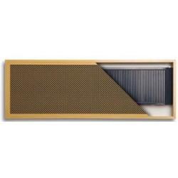 REGULUS INSIDE poziomy  740 x 740 b/went. grzejnik wnękowy