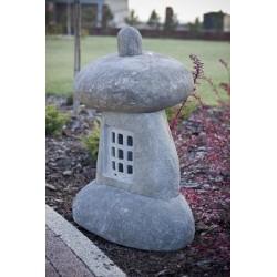 YOUSRI Lampa ogrodowa wykonana z kamienia w kształcie grzybka.