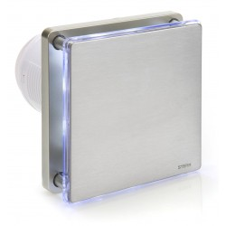 Wentylator łazienkowy srebrny BFS100LT-S (LED + timer)