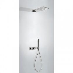 TRES Slim exclusive Zestaw podtynkowy termostatyczny natryskowy, kolor czarny-chrom 20725202NE