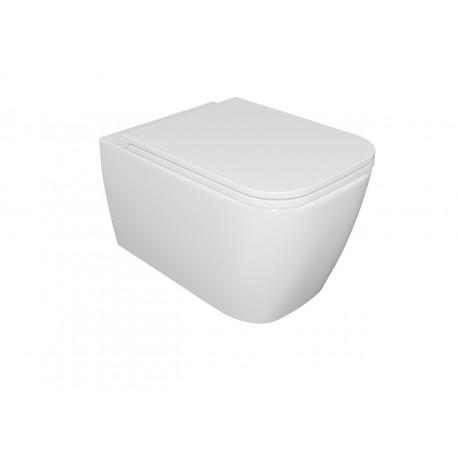 Komplet WC Quadra NO - RIM biały mat
