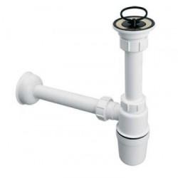Syfon umywalkowy butelkowy 11/4x32mm z sitem ze stali nierdzewnej i korkiem gumowym.