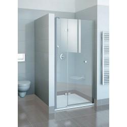 Drzwi prysznicowe dwuelementowe FSD2-120 A-L chrom+transparent