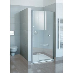 Drzwi prysznicowe dwuelementowe FSD2-120 L chrom+transparent