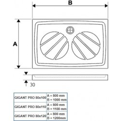 Panel Gigant Pro 120x80 SET P biały